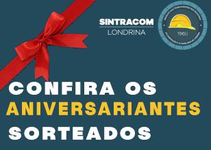 SINTRACOM LONDRINA ENTREGA BOLO PARA ANIVERSARIANTES FILIADOS