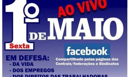 Acompanhe AO VIVO ao 1º de maio organizado pelas Centrais do Paraná, com participação de artistas